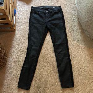 ❤️J. Crew metallic black toothpick jeans Size 26